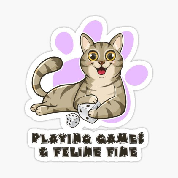 Playing Games And Feeling Fine Sticker
