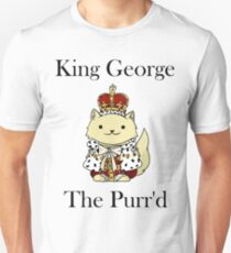 King George the Purr'd Unisex T-Shirt