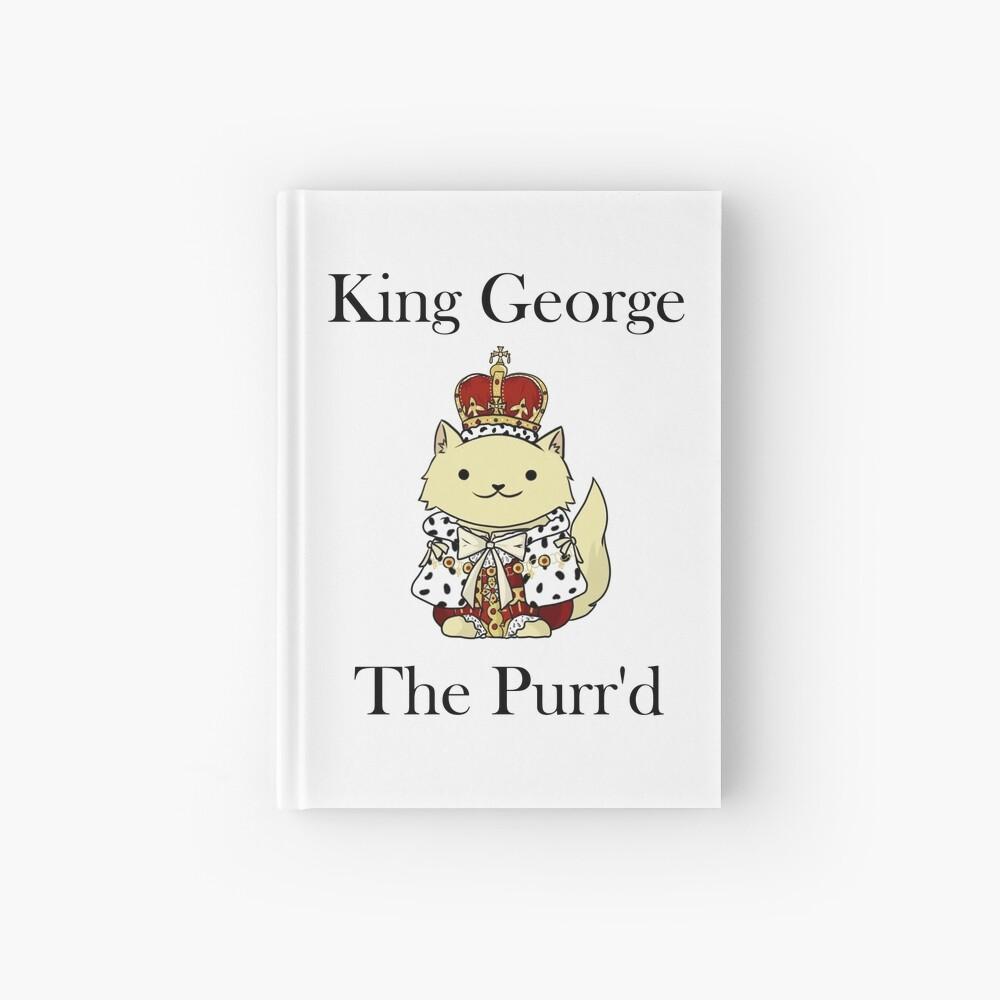 El rey Jorge el Purr'd Cuaderno de tapa dura