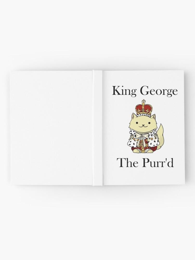 Vista alternativa de Cuaderno de tapa dura El rey Jorge el Purr'd