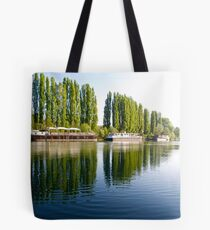 Barges of the River Oise at Auvers Tote Bag