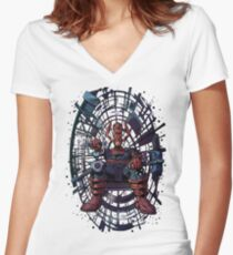 Galactus - clear background Women's Fitted V-Neck T-Shirt