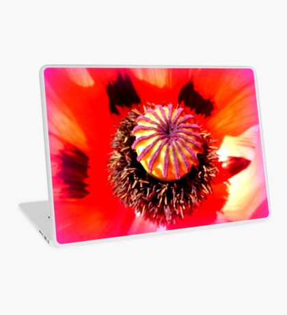 Oriental Poppy Portrait Laptop Skin