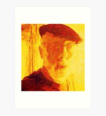 SELF PORTRAIT OF THE ARTIST AS AN OLD GUY. Art Print