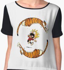 Calvin And Hobbes Fun Women's Chiffon Top