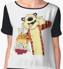 Calvin And Hobbes Fun Art Chiffon Top