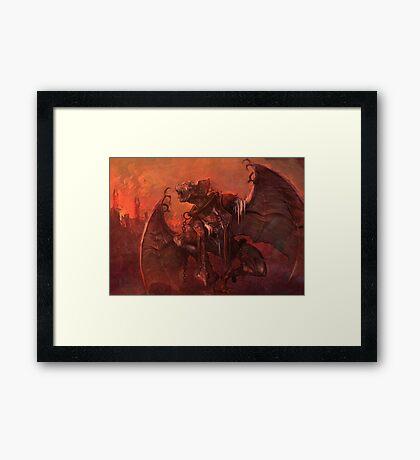 Vampiric Transformation Framed Print