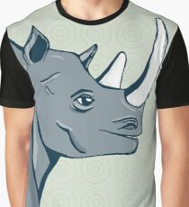 hand drawn rhinoceros Graphic T-Shirt