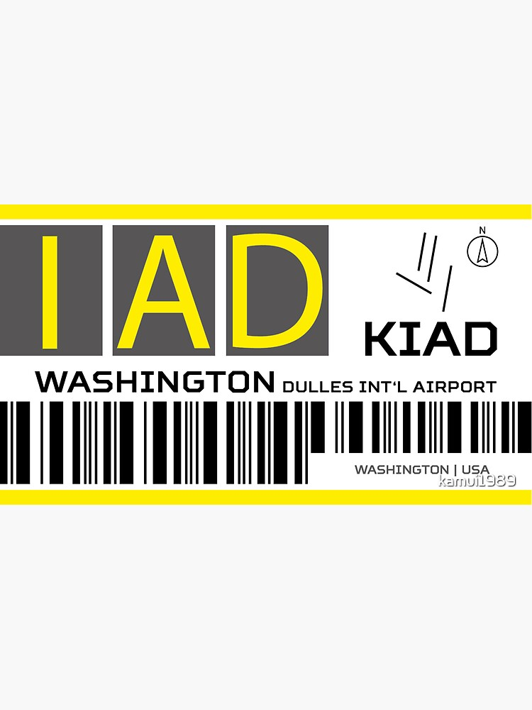 USA Washington Dulles Airport Virginia IAD Mug Travel Airline Airport Gift