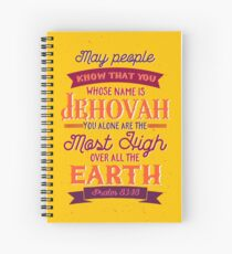 PSALM 83:18 Spiral Notebook
