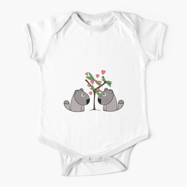 Eucalyptus love Short Sleeve Baby One-Piece
