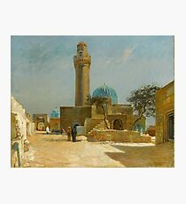 Olaf Viggo Peter Langer (Leipzig, Germany - Rungsted, Denmark ), View of the Bibi-Heybat Mosque Photographic Print