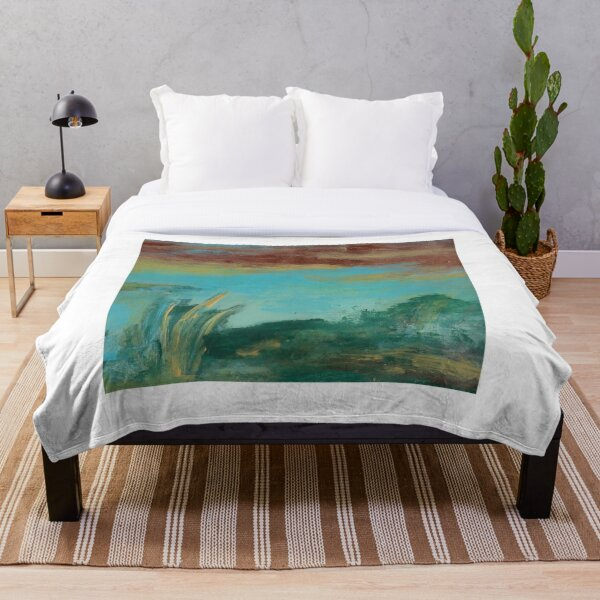 Earth Day Abstract: A New Earth Throw Blanket