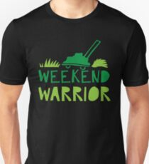 WEEKEND WARRIOR with green lawn mower T-Shirt
