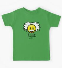 Einstein Smiley + E=mc² Kids Tee
