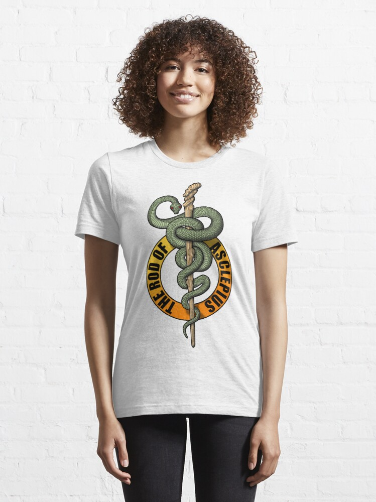 Alternate view of Rod of Asclepius Essential T-Shirt