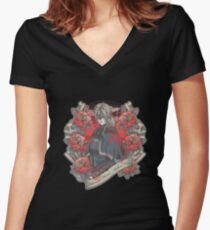 Welcome Home, Ashen One Women's Fitted V-Neck T-Shirt