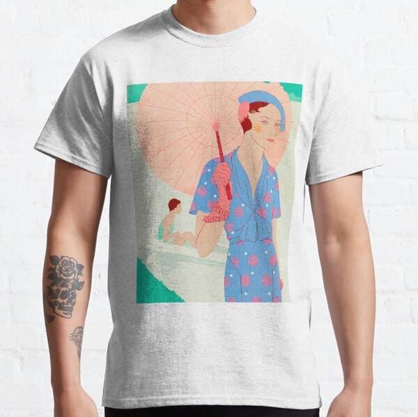 ART TASTE BEAUTY LAVES Élégance féminine 1932 M RENAUD PARASOL T-shirt classique