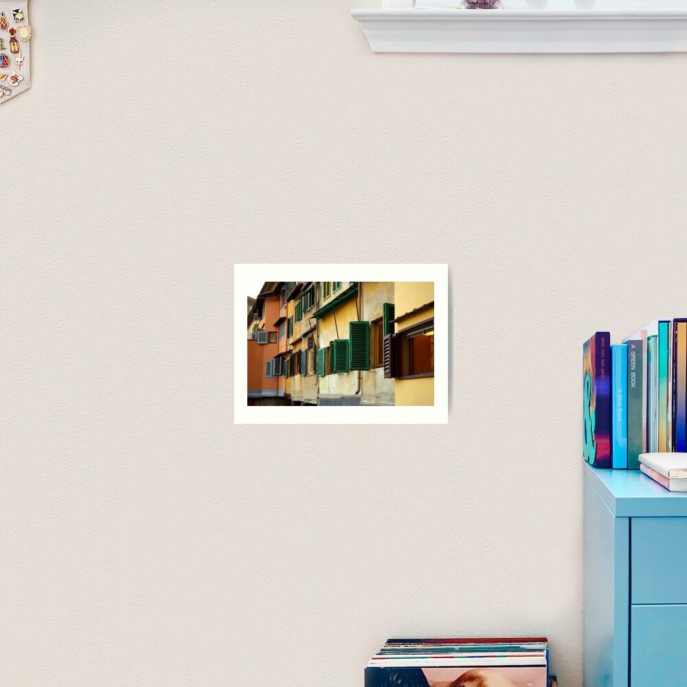 Windows, Ponte Vecchio Art Print