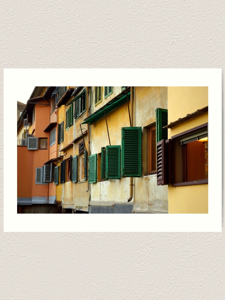 Alternate view of Windows, Ponte Vecchio Art Print