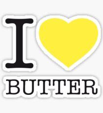 I ♥ BUTTER Sticker