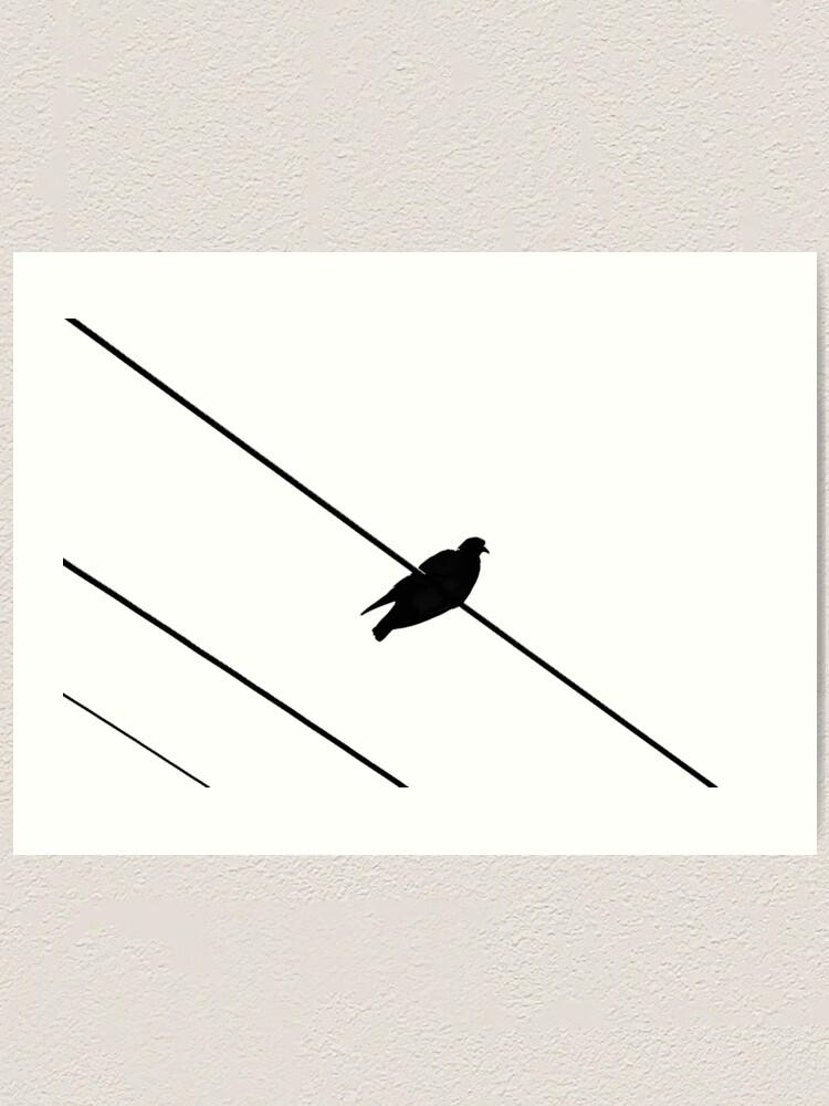 Alternate view of Bird on a Wire Art Print