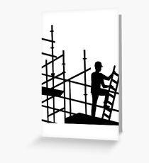Gerüstbauer Grußkarte