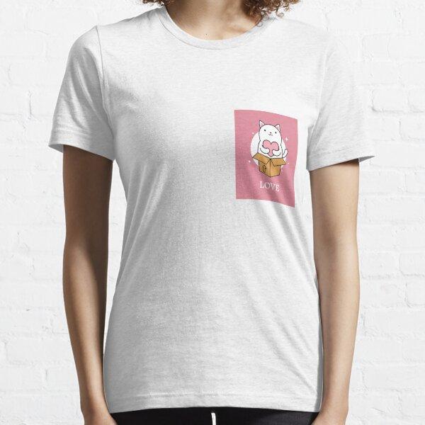 WEISSE KATZE MIT ROSA HERZLIEBE Essential T-Shirt