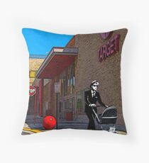 Rude Boy Goes to Target Throw Pillow