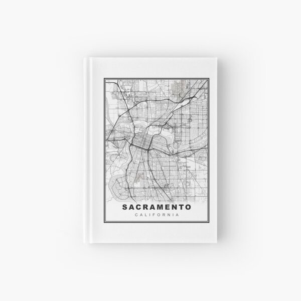 Sacramento Map Hardcover Journal