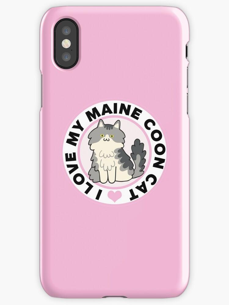 Maine Coon Cat T-Shirts by CafePretzel