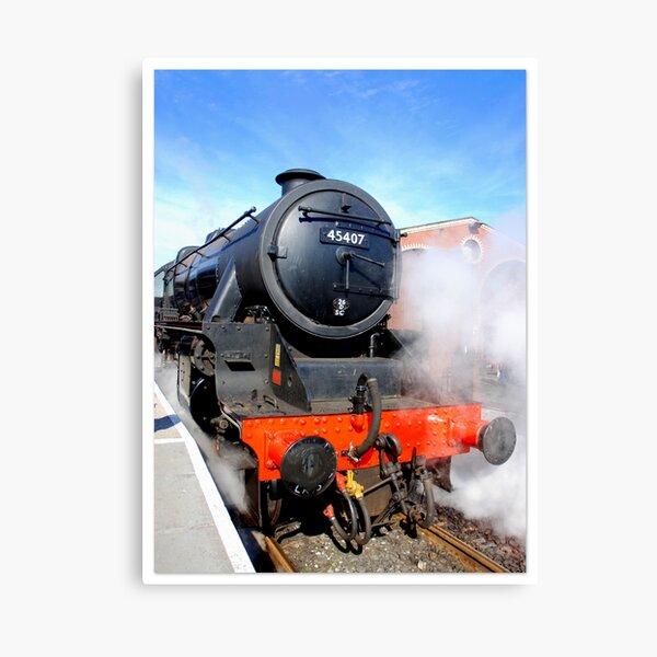 45407 Lancashire Fusilier Steam Locomotive Canvas Print