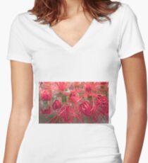 bottle brush Women's Fitted V-Neck T-Shirt