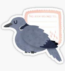 Collared Dove Book Plate Sticker