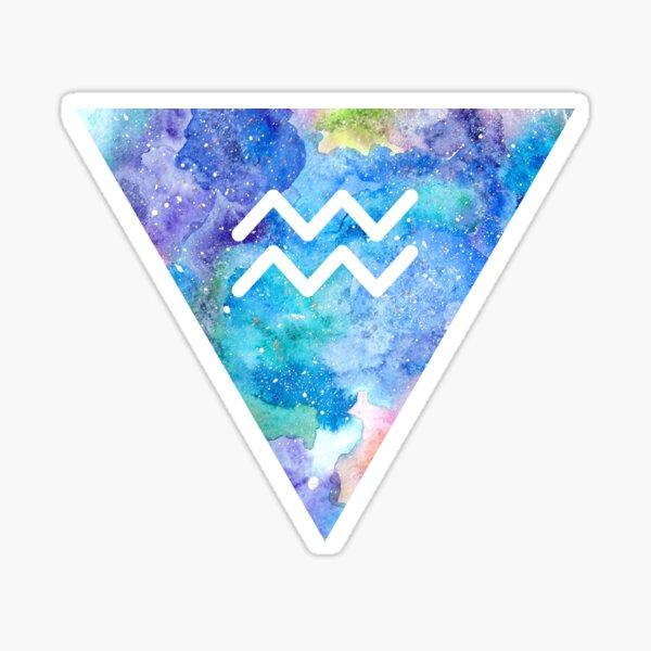 Aquarius Zodiac Sign Sticker