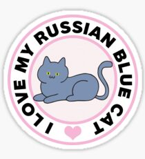 Russian Blue Cat Lover T-Shirts Sticker