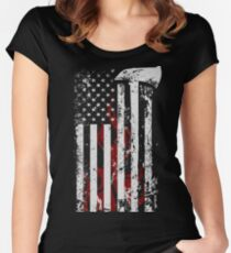 American Firefighter Women's Fitted Scoop T-Shirt