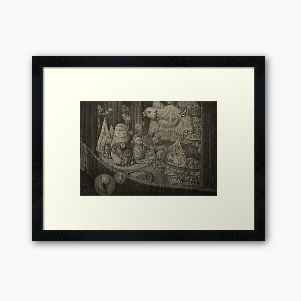I Can Feel the Secrets on the Stage Framed Art Print