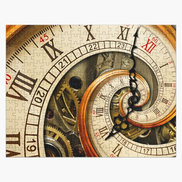 The Clock of the Spiral Whirlpool of Time. Jigsaw Puzzle