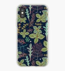 dark herbs pattern iPhone Case