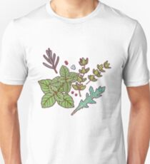 dark herbs pattern Unisex T-Shirt