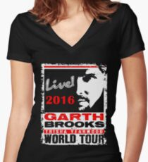 GARTH BROOKS Women's Fitted V-Neck T-Shirt