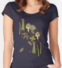 spring asparagus Women's Fitted Scoop T-Shirt