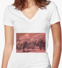 House and Trees IR Women's Fitted V-Neck T-Shirt