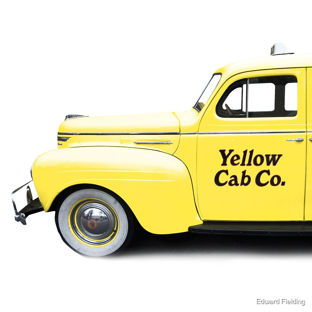 Classic NYC Yellow Cab Square by Edward Fielding