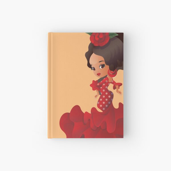 Dibujos animados flamencos chibi kawaii girl Cuaderno de tapa dura