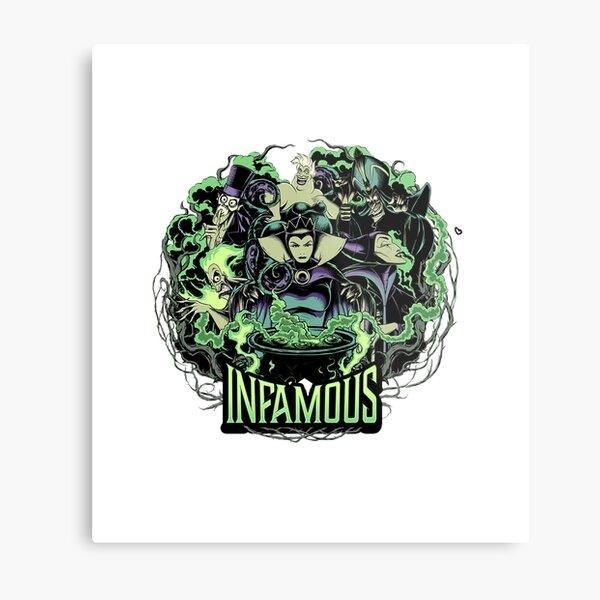 D is ney Villains Infamous Evil Group Nice Gift Metal Print