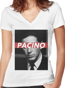 PACINO Women's Fitted V-Neck T-Shirt