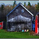 Barns and Chairs 3 Each by Wayne King