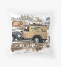woody surf Throw Pillow